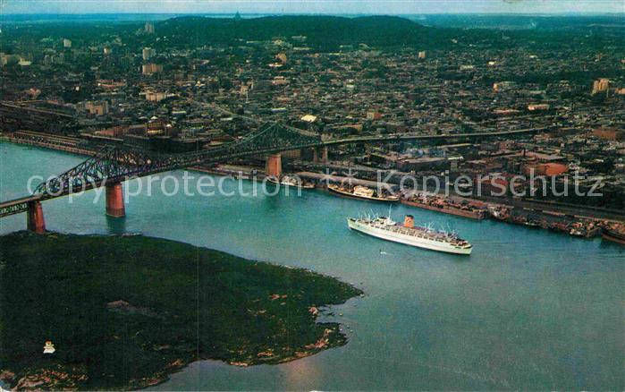 AK / Ansichtskarte Montreal Quebec Fliegeraufnahme Jacques Cartier Bridge Kat. Montreal