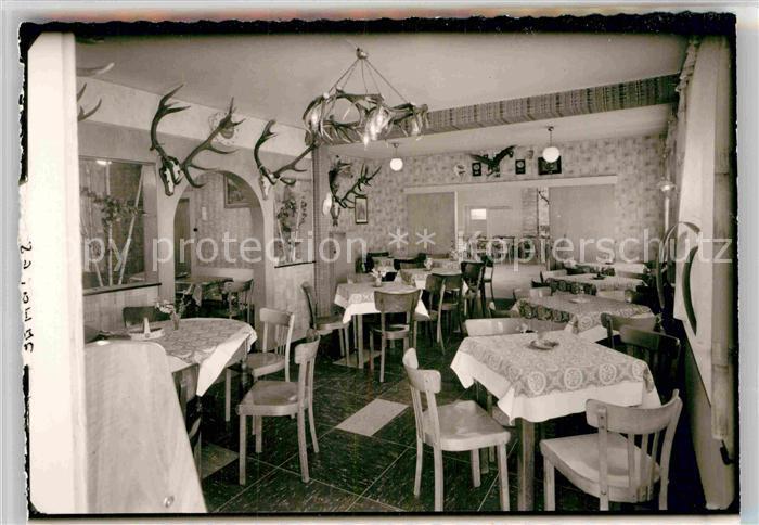 Ak Ansichtskarte Laasphe Metzgerei Gasthaus Zum Hirsch Kat Bad