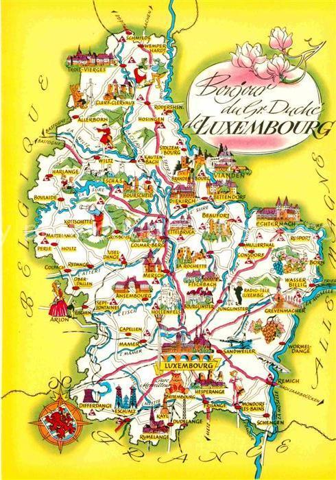Baustoffe Luxemburg ak ansichtskarte luxembourg luxemburg landkarte luxembourg nr