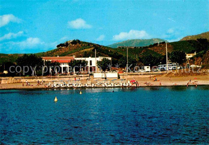 AK / Ansichtskarte Banyuls sur Mer Hotel Restaurant Les Elmes Strand Kat. Banyuls sur Mer