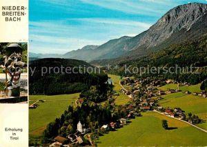 AK / Ansichtskarte Niederbreitenbach Fliegeraufnahme mit Schloss Schoenwarth