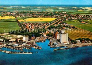 AK / Ansichtskarte Burg Fehmarn Fliegeraufnahme mit Hafen von Burgstaaken Kat. Fehmarn