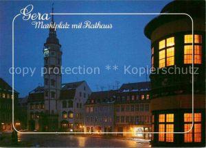 AK / Ansichtskarte Gera Marktplatz mit Rathaus Kat. Gera