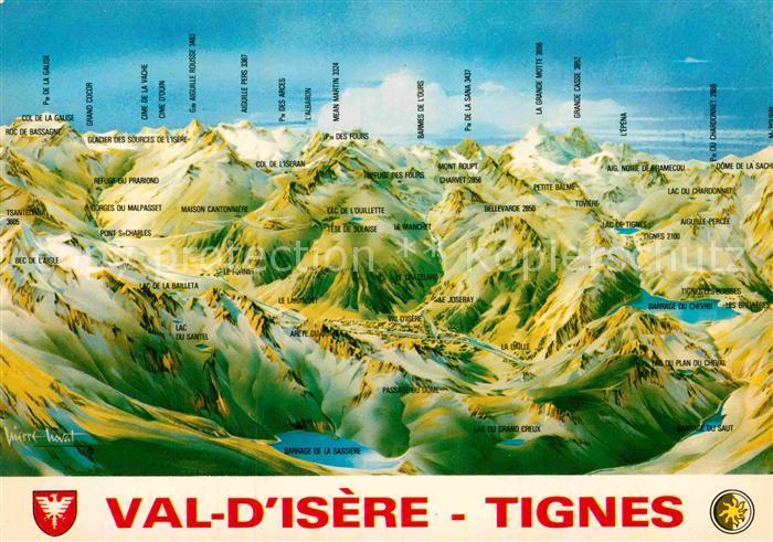 AK / Ansichtskarte Tignes Val d Isere Panoramakarte Kat. Tignes