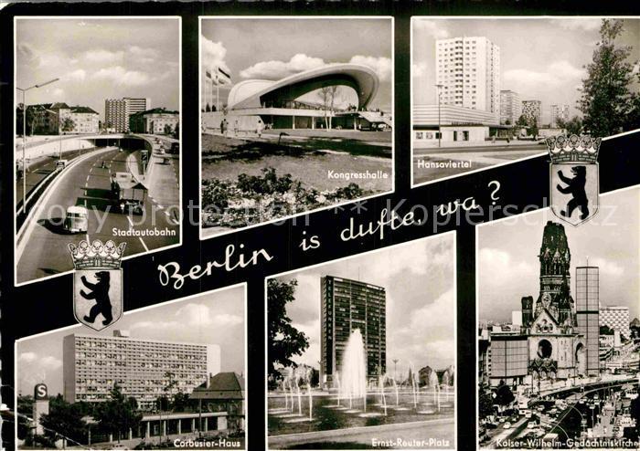 AK / Ansichtskarte Berlin Stadtautobahn Kongresshalle Hansaviertel Corbusier Haus  Kat. Berlin