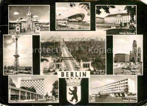 AK / Ansichtskarte Berlin Schloss Bellevue Funkturm Hotel Berlin Hotel Hilton  Kat. Berlin