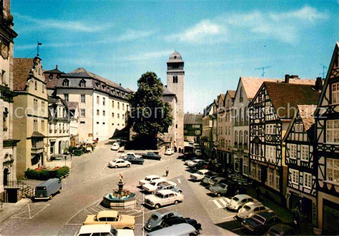 ak ansichtskarte hachenburg westerwald alter markt kat