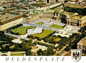 AK / Ansichtskarte Wien Heldenplatz Neue Hofburg Fliegeraufnahme Kat. Wien