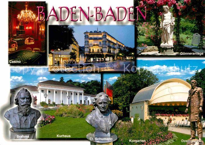 AK / Ansichtskarte Baden Baden Kasino Brahms Kurhaus Kurgarten Goenneranlage Leopoldsplatz Kat. Baden Baden