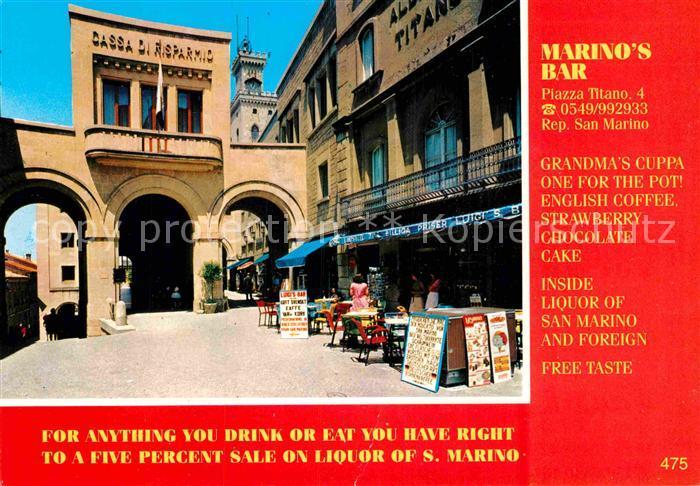 AK / Ansichtskarte San Marino Repubblica Marino s Bar