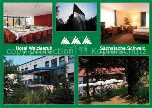 AK / Ansichtskarte Berggiesshuebel Hotel Waldesruh Speisesaal Doppelzimmer Garten Kat. Bad Gottleuba Berggiesshuebel