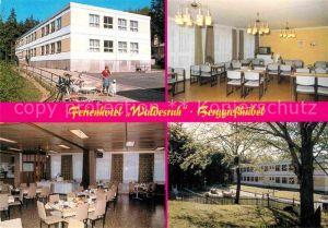 AK / Ansichtskarte Berggiesshuebel Hotel Waldesruh Fernsehraum Speisesaal Aussenansicht Kat. Bad Gottleuba Berggiesshuebel