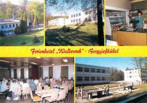 AK / Ansichtskarte Berggiesshuebel Hotel Waldesruh Tischttennis Speisesaal Teilansicht  Kat. Bad Gottleuba Berggiesshuebel