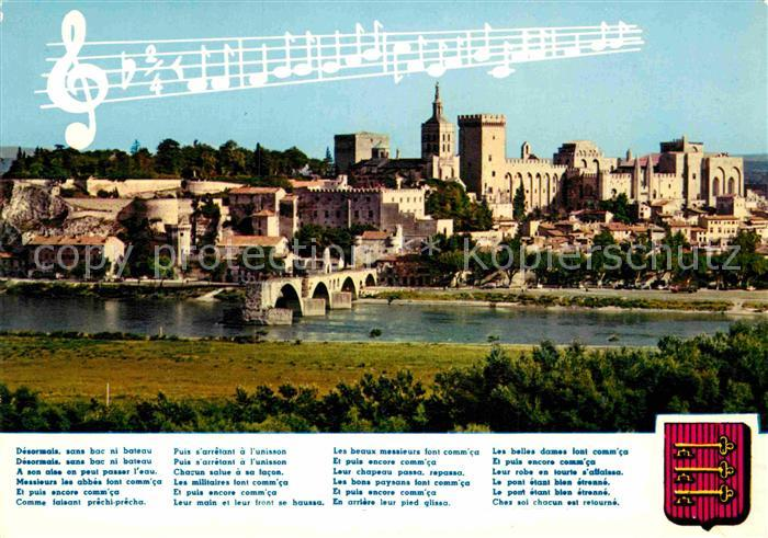 AK / Ansichtskarte Avignon Vaucluse Le Palais des Papes Le Rocher des Doms Le Pont Saint Benezet Kat. Avignon