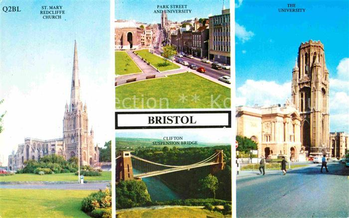 AK / Ansichtskarte Bristol UK St Mary Redcliff Church University Park Street Clifton Suspension Bridge Kat. Bristol City of