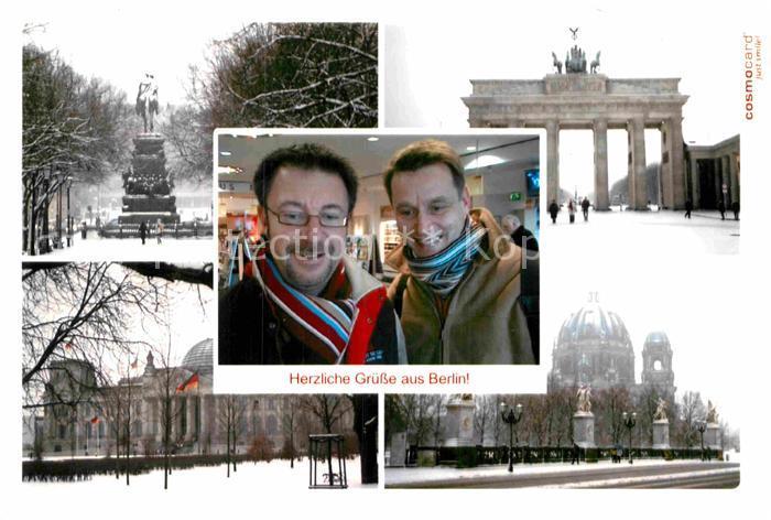 AK / Ansichtskarte Berlin Brandenburger Tor Reichstag Kirche  Kat. Berlin
