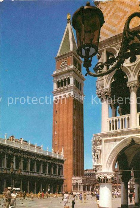 AK / Ansichtskarte Venezia Venedig Glockenturm San Marco  Kat.