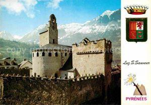 AK / Ansichtskarte Luz Saint Sauveur Hautes Pyrenees Eglise fortifiee Kat. Luz Saint Sauveur
