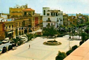AK / Ansichtskarte San Carlos de la Rapita  Plaza Espana y Calle San Francisco Kat. Tarragona