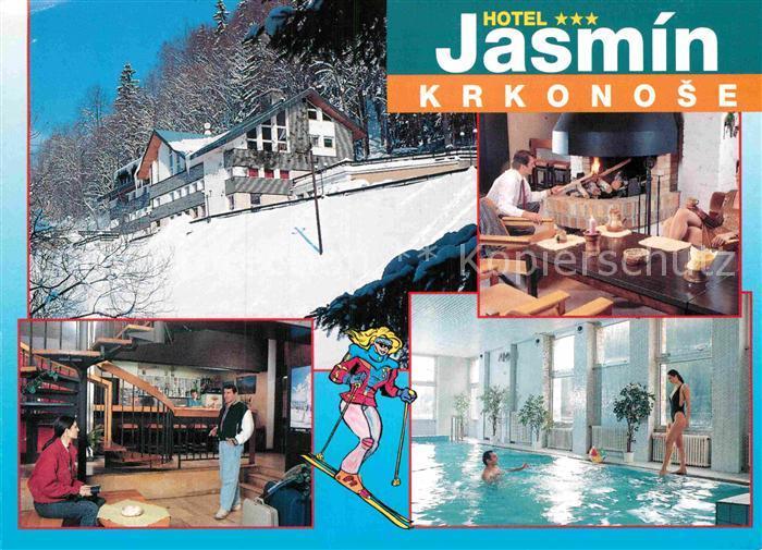 ak ansichtskarte krkonose hotel jasmin schwimmbad kat. Black Bedroom Furniture Sets. Home Design Ideas