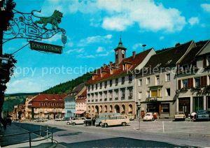 AK / Ansichtskarte Triberg Schwarzwald Marktplatz mit Rathaus Kat. Triberg im Schwarzwald