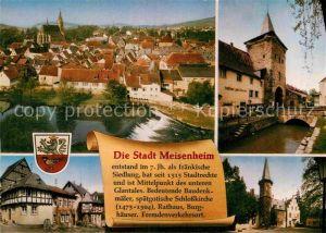 AK / Ansichtskarte Meisenheim Glan Stadtbild mit Wehr Turm Altstadt Geschichte Kat. Meisenheim