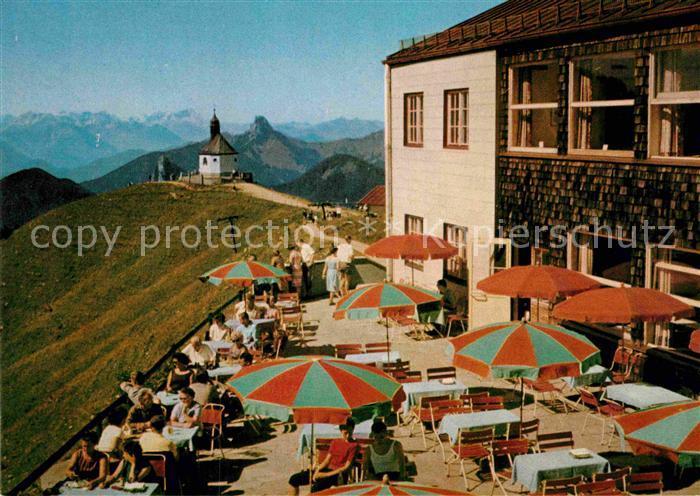 AK / Ansichtskarte Rottach Egern Wallbergbahn Berggaststaette Wallbergkapelle Zugspitze Alpen Kat. Rottach Egern