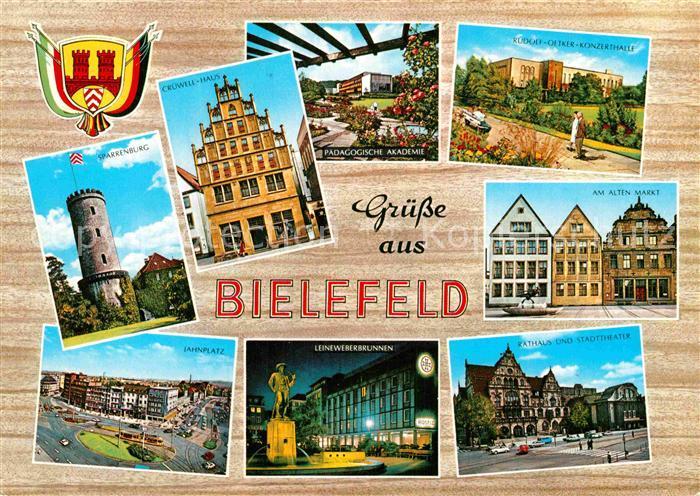 AK / Ansichtskarte Bielefeld Rudolf Oetker Konzerthalle Jahnplatz Sparrenburg Cruewell Haus  Kat. Bielefeld