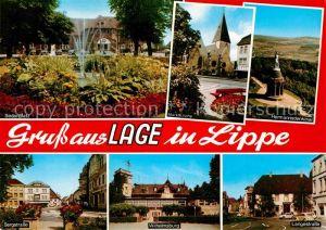 AK / Ansichtskarte Lage Lippe Sedanplatz Bergstrasse Wilhelmsburg Langestrasse Hermannsdenkmal  Kat. Lage