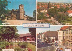AK / Ansichtskarte Lage Lippe Wilhelmsburg Kirche Sedanplatz Bahnhof Markt Kat. Lage