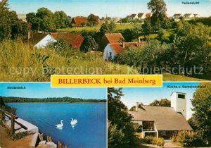 AK / Ansichtskarte Billerbeck Lippe Teilansicht Norderteich Kirche Gemeindehaus Kat. Horn Bad Meinberg