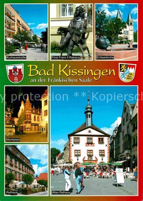 AK / Ansichtskarte Bad Kissingen Marktplatz Rathaus Erloeserkirche  Kat. Bad Kissingen