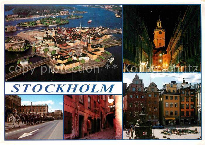AK / Ansichtskarte Stockholm Fliegeraufnahme Fest  Kat. Stockholm