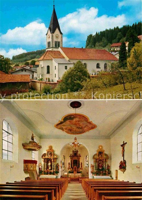 AK / Ansichtskarte St Englmar Pfarrkirche Innenansicht Kat. Sankt Englmar