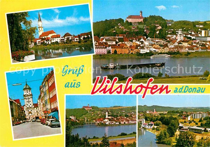 AK / Ansichtskarte Vilshofen Donau Stadttor Kirche Burg Donau Panorama  Kat. Vilshofen an der Donau