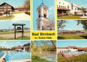 AK / Ansichtskarte Bad Birnbach Thermalbad Sportanlagen Freibad Kirche  Kat. Bad Birnbach