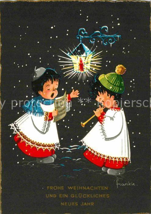 AK / Ansichtskarte Weihnachten Neujahr Kinder Gesang Laterne ...