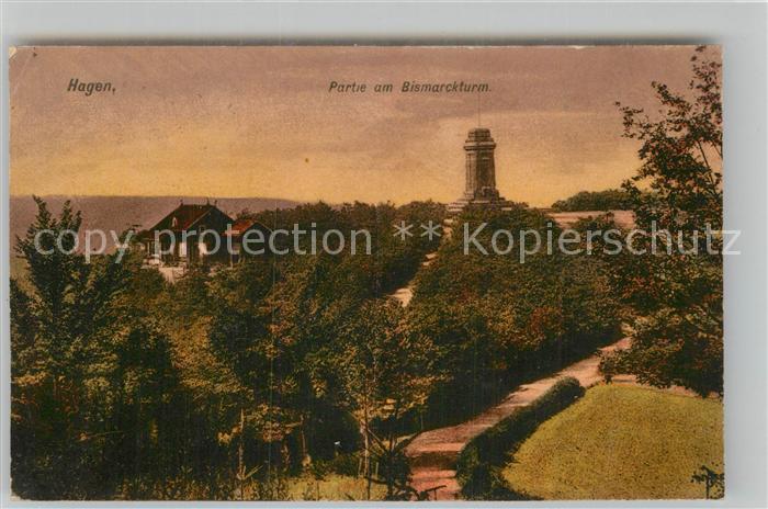 AK / Ansichtskarte Hagen Westfalen Partie am Bismarckturm Kat. Hagen