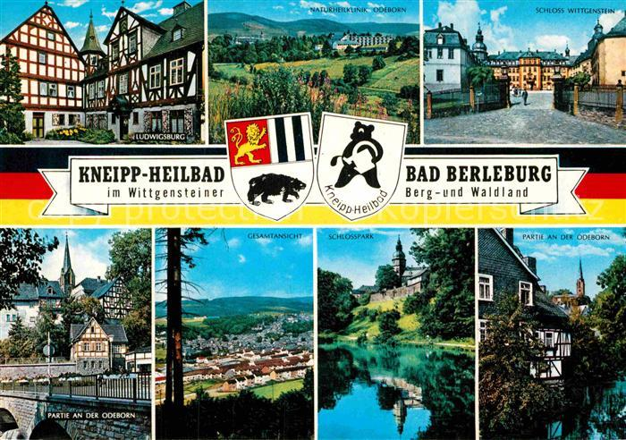 AK / Ansichtskarte Bad Berleburg Ludwigsburg Partie an der Odeborn Schloss Wittgenstein Kat. Bad Berleburg