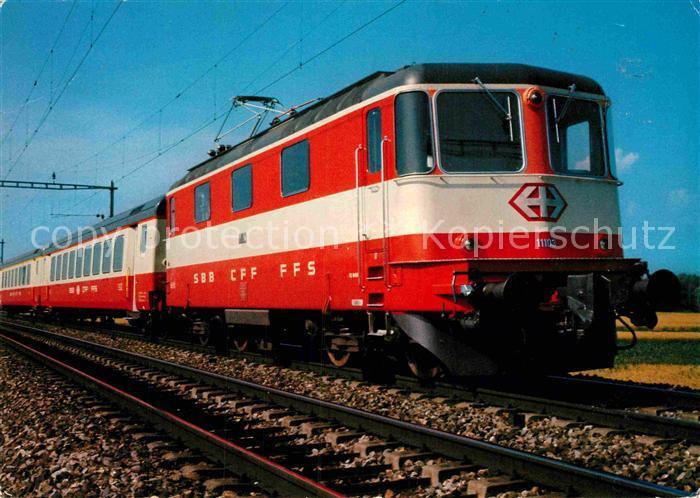 AK / Ansichtskarte Eisenbahn Schweiz Jubilaeumszug Staedtezugswagen SBB Kat. Eisenbahn