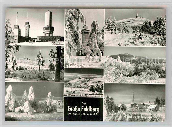 AK / Ansichtskarte Taunus Region Grosser Feldberg Roemerkastell Oberreifenberg Altkoenig Observatorium Kleiner Feldberg