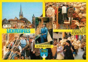 AK / Ansichtskarte Lichtenfels Bayern Korbmarkt Marktplatz Kirchturm Kat. Lichtenfels