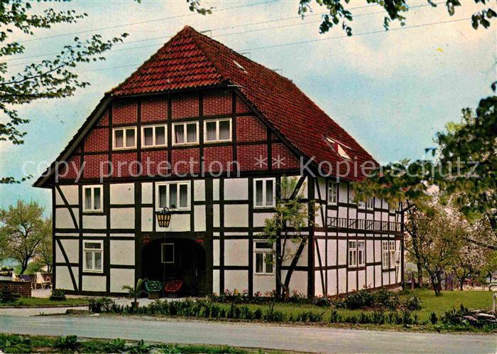 AK / Ansichtskarte Bannensiek Sanatorium Bieder Mayr Haus Fachwerkhaus Kat. Hameln