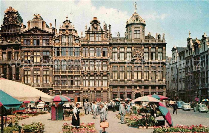 AK / Ansichtskarte Bruxelles Bruessel Grand Place Le Marche aux Fleurs Kat.