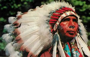 AK / Ansichtskarte Indianer Native American Indian Chief  Kat. Regionales