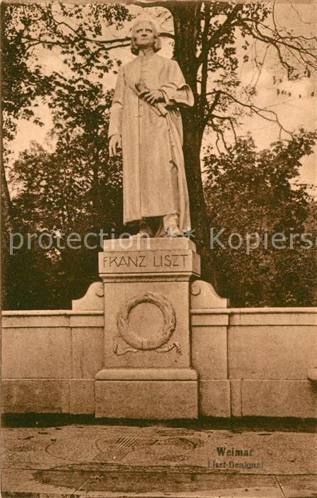 AK / Ansichtskarte Liszt Franz Komponist Denkmal Kamenz Kat. Musik