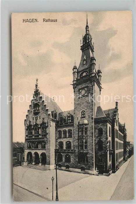 AK / Ansichtskarte Hagen Westfalen Rathaus Kat. Hagen