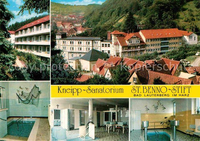 AK / Ansichtskarte Bad Lauterberg Kneipp Sanatorium St Benno Stift Kuranwendungen Kat. Bad Lauterberg im Harz