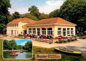 AK / Ansichtskarte Burgsteinfurt Bagno Gaststaette Bootfahren See Kat. Steinfurt