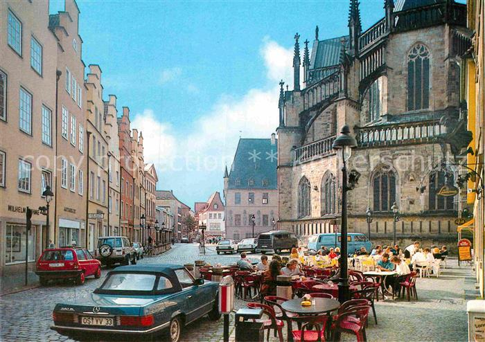 ak osnabr ck markt mit rathaus und marienkirche nr 6211422 oldthing ansichtskarten. Black Bedroom Furniture Sets. Home Design Ideas